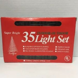 Other - Christmas Lights 35 Indoor Outdoor Set Vintage